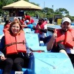 As part of your English course in Washington DC, go paddleboating on the Tidal Basin