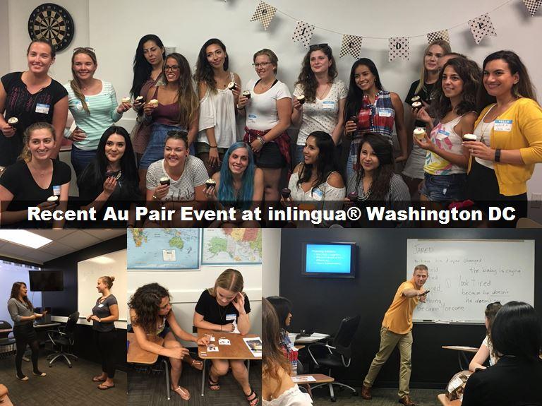 Au Pair English night at inlingua Washington DC
