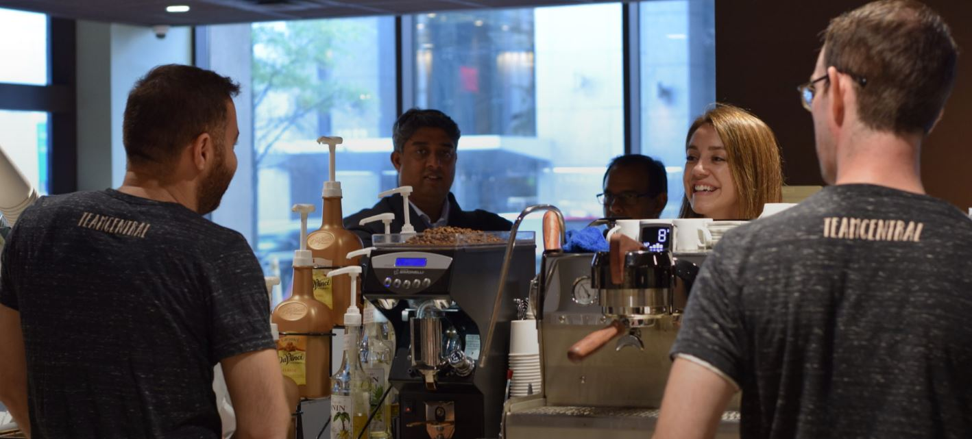 English classes and on-campus employment at Central Coffee